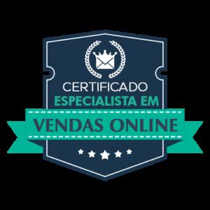 Certificado de Especialista em Vendas Online